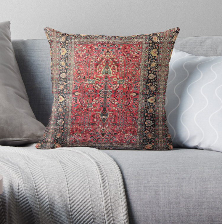Antique Persian Red Rug Pillow Covers Cases Pattern Nordic Cover Cushion Pillowcase Square Print