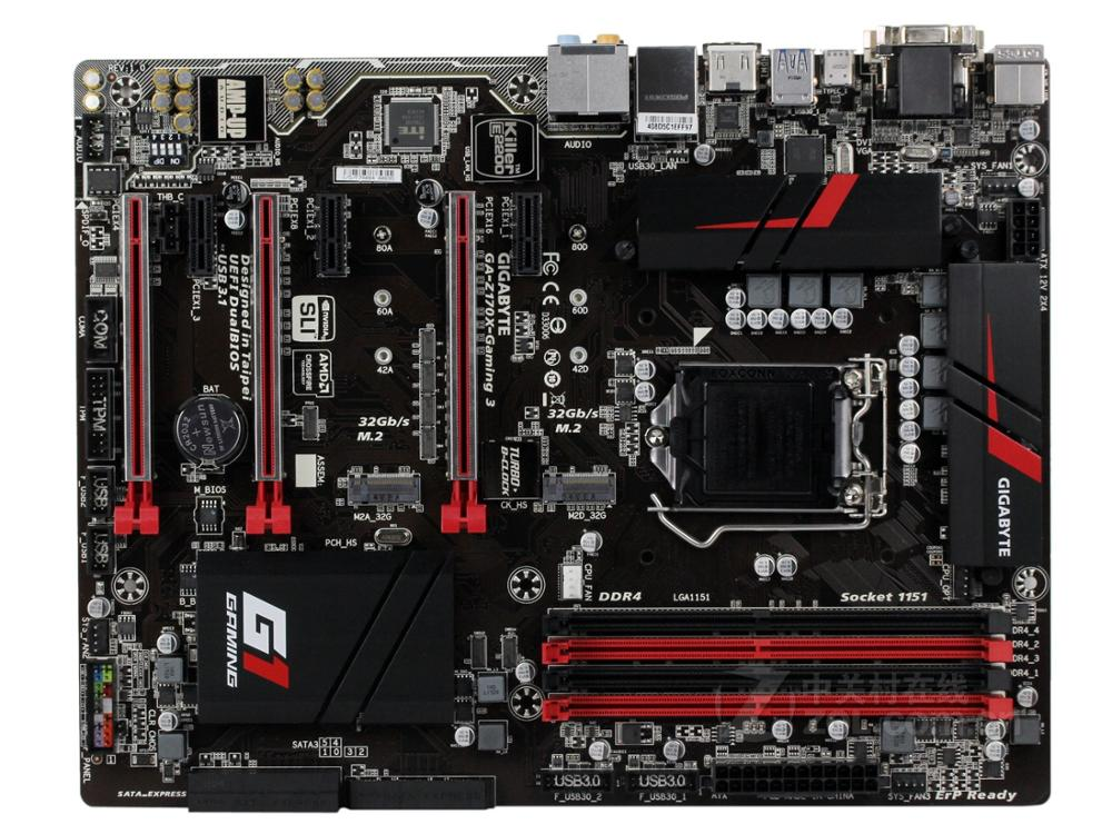 Original Motherboard For Gigabyte Z170X-GAMING 3 DDR4 LGA 1151 64GB USB3.1 VGA DVI HDMI GA-Z170X-GAMING 3 Desktop Motherboard