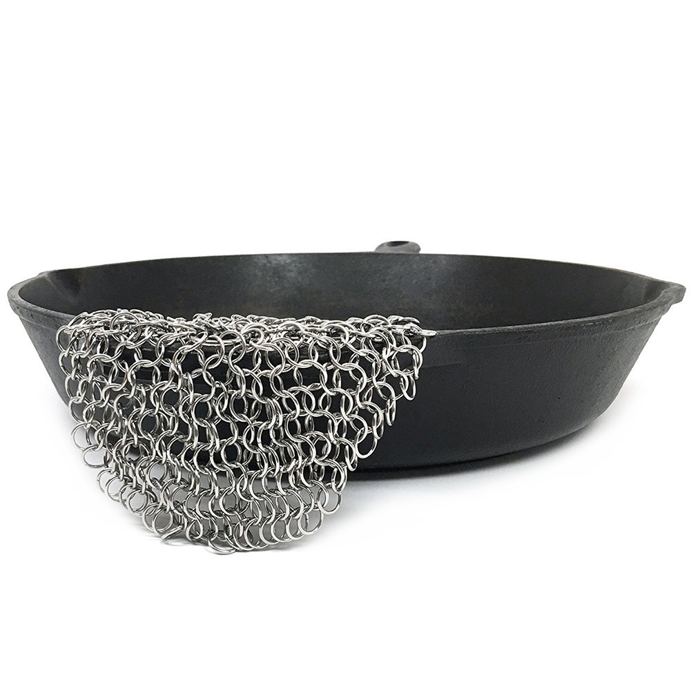 Cast Iron Cleaner Premium Stainless Steel Chainmail Scrubber Kitchen Gadgets Wash Tool Pan Dish Bowl