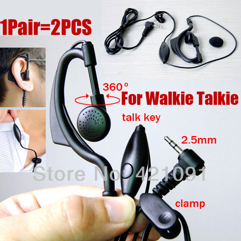 Earpiece Headset Mic For Baofeng RT-388 BF-T3 Bell T-388 T-228 T-328 628 Walkie Talkie Two Way Radio 2.5mm F Type