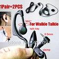 Fone de Ouvido em Ouvido para Sino Tipo PTT Walkie Talkie 2.5mm F fone de ouvido com Microfone para o Rádio em Dois Sentidos Handheld T-388 T-228 T-328 628