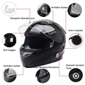 2017 New Arrival BM2-S! Smart Motorcycle Bluetooth Helmet Intercom Built In BT Interphone System With FM Radio 500M for 3 Riders