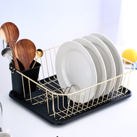 Large Kitchen Countertop, Sink Dish Drying Rack with Removable Cutlery Tray and Drainboard