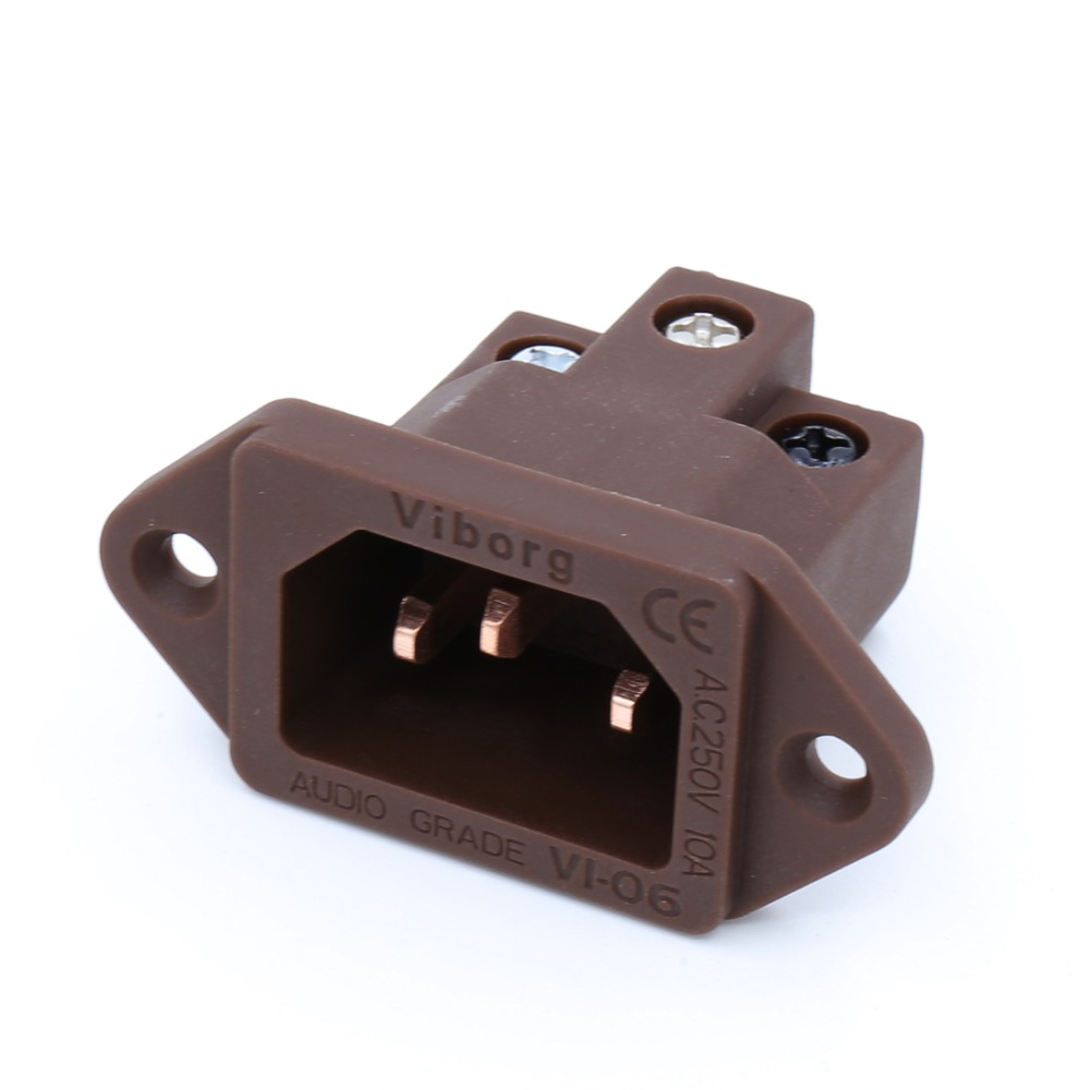 Viborg Audio Pure Red Copper Non Solder Hi End IEC Socket Inlet светодиодная лента ls3528 120led ip65 ww eco 5m эра 641705 б0002340