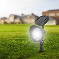 4 LED Solar Lámpara de Césped Solar Powered Spotlight IP44 A Prueba de Agua Al Aire Libre Jardín Paisaje Patio Luz de La Decoración Para El Camino Charca