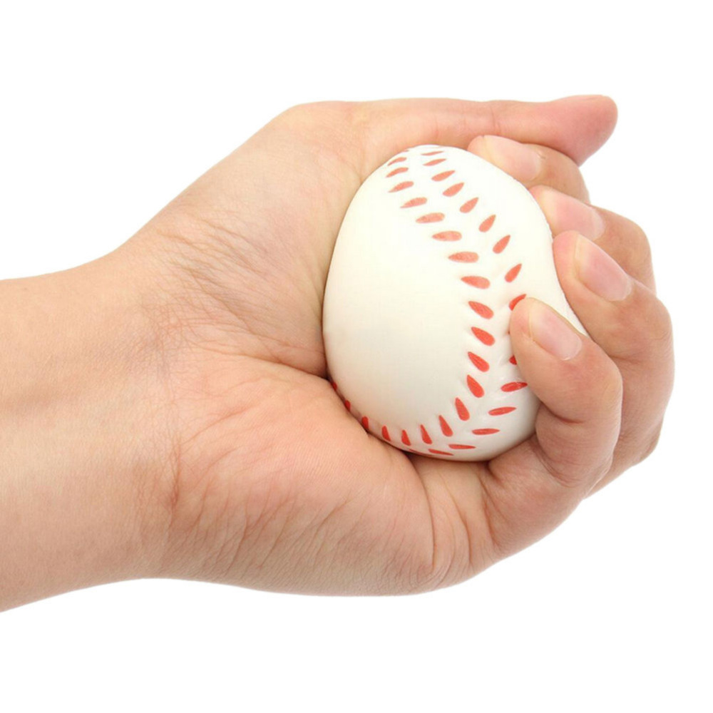 1pc 6.3cm Relaxable Squeeze Ball Hand Massager Toy Baseball Football Shape Stress Reliever