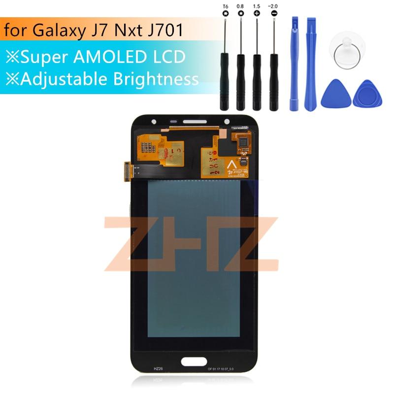 Pour Samsung Galaxy J7 Nxt J701F lcd écran tactile numériseur assemblée pour Galaxy J7 Neo/J7 Core LCD affichage pièces de réparation