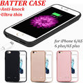 Ultra Thin Silicon Backup External Charger Battery Case For iPhone 6 6Splus Power Case Cover Mobile Cell Phone Fit Portable Case
