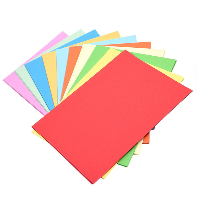 Pack Of 100 Sheets Assorted Color A4 Size Origami Craft Diy Printer