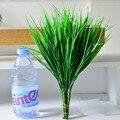 Flores artificiales De Plástico Verde Hierba 34 cm Artificial Planta Flor Hogar Rústico Plantas de Trébol Césped Artificial Al Por Mayor