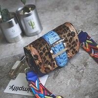 High Quality Brand Handbags Bags Color Snake Small Bag 2018 Winter New Color Single Shoulder Bag Strap Leopard Fringe Bag
