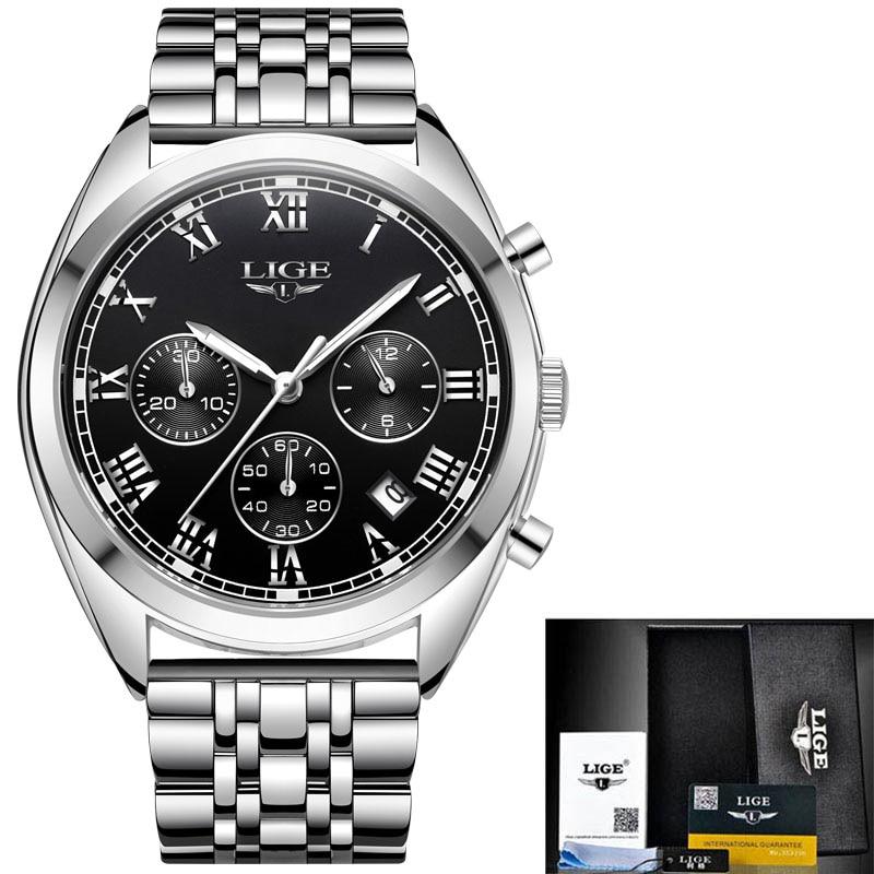 silver black steel