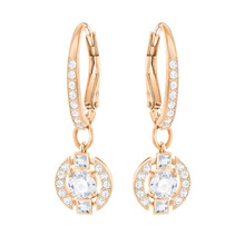 High quality 1:1 Swa new style, earrings, gems, ladiesrings, jewelry, rose gold, Large Circle Earrings