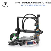 TEVO Tarantula I3 3D Printer Kit Aluminium Extrusion 3D Printer Kit Reprap Prusa I3 2 Rolls Filament & Titan Extruder