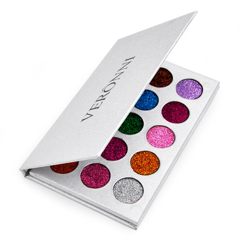 Global hot 15 color glitter glitter eye shadow disc Pearlescent diamond eye shadow waterproof eye shadow powder in Eye Shadow from Beauty Health