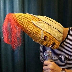 Image 5 - Angry Mr Old Corn, креативная маска для Хэллоуина, высококачественный желтый головной убор из кукурузы, вечерние украшения для Хэллоуина, вечерние товары для Хэллоуина &