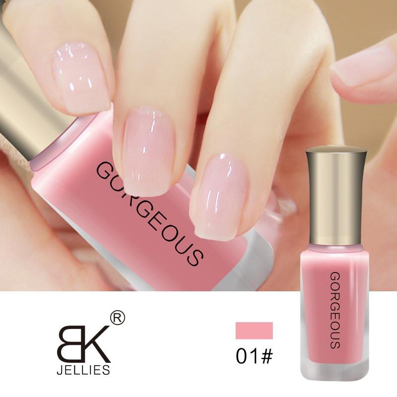 Новый лак для ногтей ярких телесных цветов Быстросохнущий прозрачный желе лак для ногтей 10 мл Защита окружающей среды стойкий незаметный