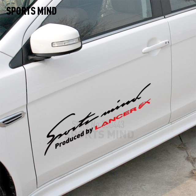 2 Pieces Sports Mind Reflective Car Sticker Decal Automobiles Vinyl