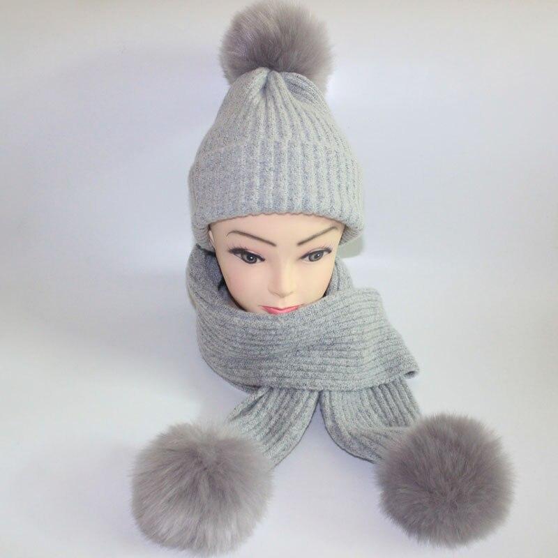 b6a6d40ab2 US $18.89 10% di SCONTO|Caldo delle donne di inverno cappelli sciarpe a  maglia Sciarpa e Cappello Set stile britannico Berretto di Lana  All'uncinetto ...