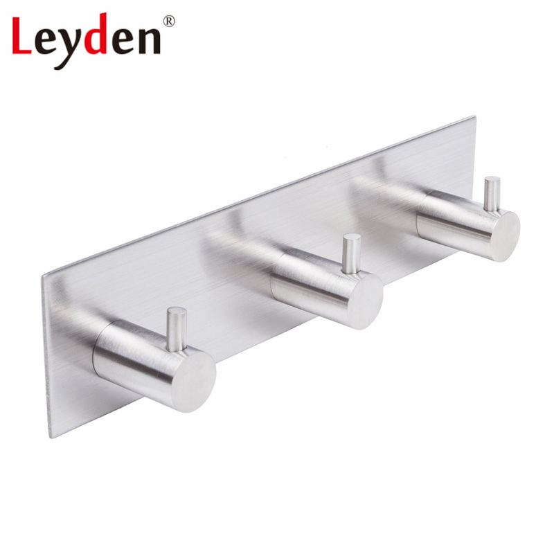 BESy Adhesive Clothes Robe Hook Single Towel Hook SUS 304 Stainless Steel for