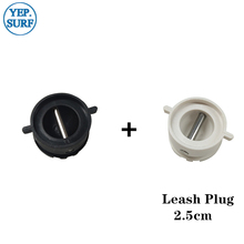 купить Surfboard Leash Plug Diameter 2.5cm leash Plugs 5pcs Black +5pcs White по цене 586.18 рублей