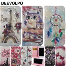 DEEVOLPO Case For iPhone X XS 8 7 6 6S Plus 5 5S SE ipod touch 5 6 Cover Leather Luxury Wallet Card Slot Back Capa Fundas D03Z smile pattern protective pc back case w card slot for iphone 5 5s blue yellow