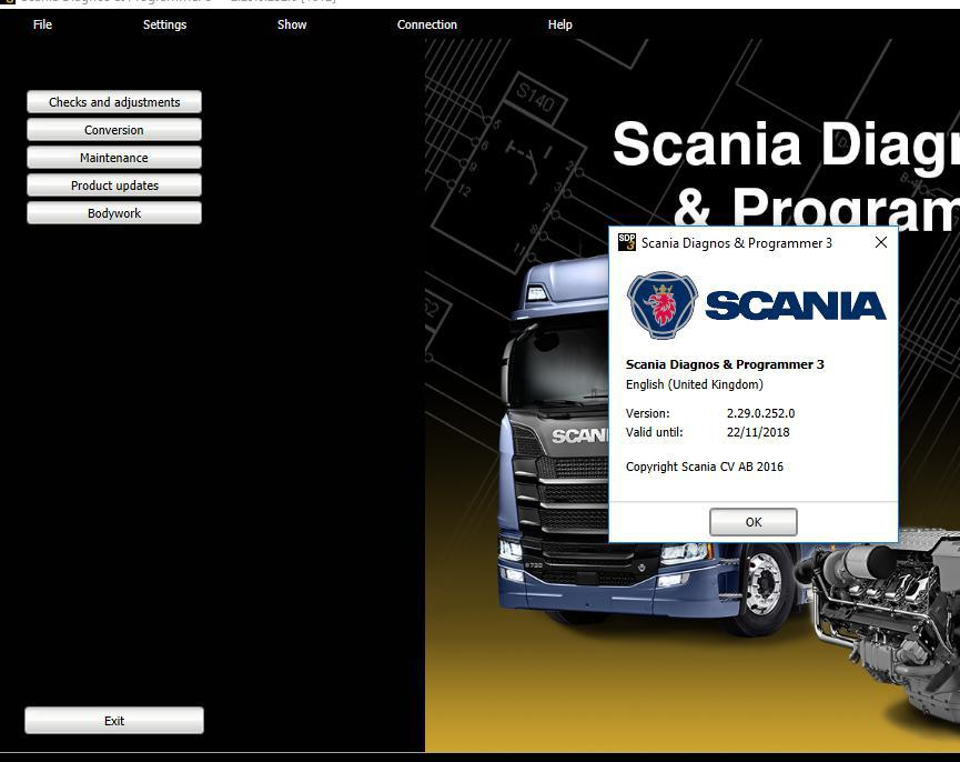 ForScania SDP3 2.29 dont need dongle+activation karcher sdp 7000