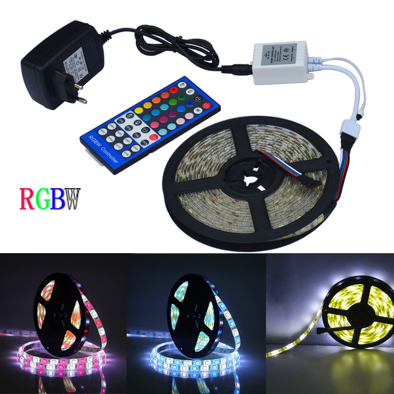 12v 2a Power Supply,rgb+white/+warm White Indoor For Decoration Jiawen 10pcs/lot 5m 5050 Rgbw Led Strip Remote Controller