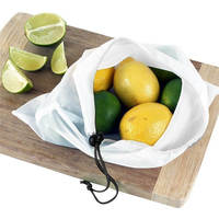12 Pcs Set Reusable Produce Bags Black Rope Mesh Bags Storage Vegetable Bags Fruit Bags Grocery