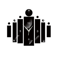 new digital clock acrylic stereo study bedroom wall clock decorative modern design silent Living Room wall watches home decor