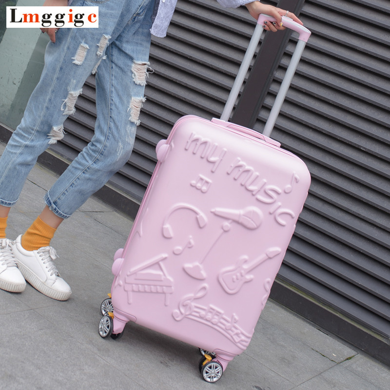 2024inch New Trolley Case, Fashion Rolling Luggage ,Women Travel Suitcase bag, Universal Wheel ABS Hardcase Box women children luggage suitcase hello kitty bag set cartoon travel box with rolling abs hardcase trolley universal wheel bag