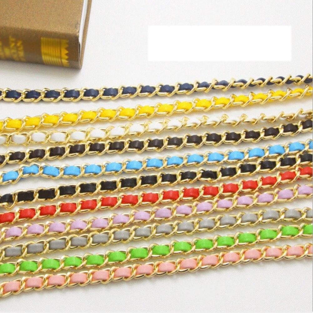 1 PC 125 Cm Detachable Replacement Shoulder Bag Strap Pu Leather Long Belts Handbag Chain Strap Bands Multicolor Bag Accessories
