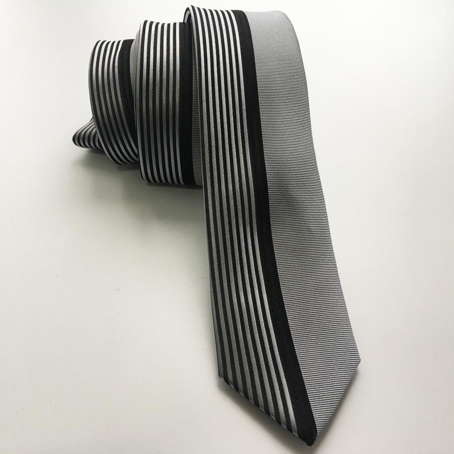 Lingyao мужской топовый дизайнерский галстук, галстук для свадьбы, полуоднотонный серебристый с черными вертикальными полосками в подарочной коробке