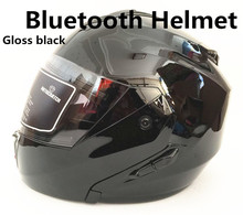 Bluetooth Flip Up Motorcycle Helmet Modular Moto Helmet With Inner Sun Visor Safety Double Lens Racing Full Face Helmets