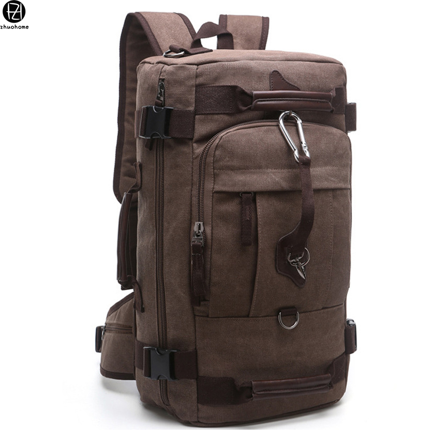 versatile canvas man backpacks large capacity double shoulder bag mochila escolar school bags men travel luggage bag 15.6 inches hot casual travel men s backpacks cute pet dog printing backpack for men large capacity laptop canvas rucksack mochila escolar
