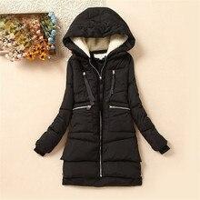 2017 Brand Winter Coat Wadded Cotton Down Winter Jacket Women Parka Military Coats Hood Army Green Black Outwear For Women DM013
