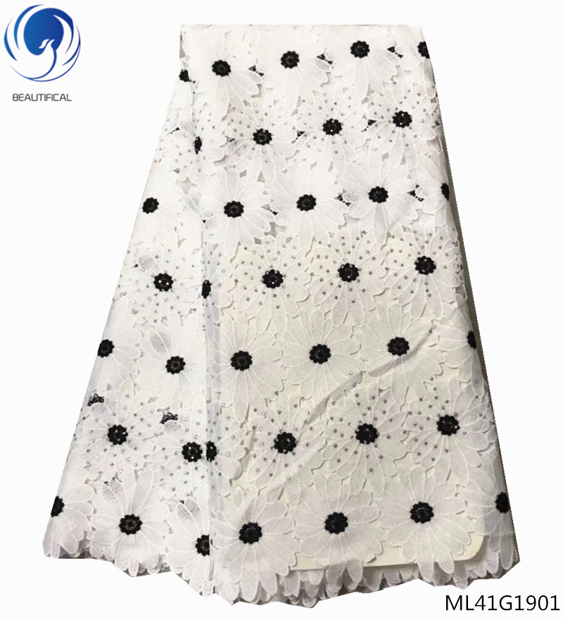 BEAUTIFICAL water soluble guipure lace fabrics with stones african cord lace fabrics dress for women 5yards/lot ML41G20BEAUTIFICAL water soluble guipure lace fabrics with stones african cord lace fabrics dress for women 5yards/lot ML41G20