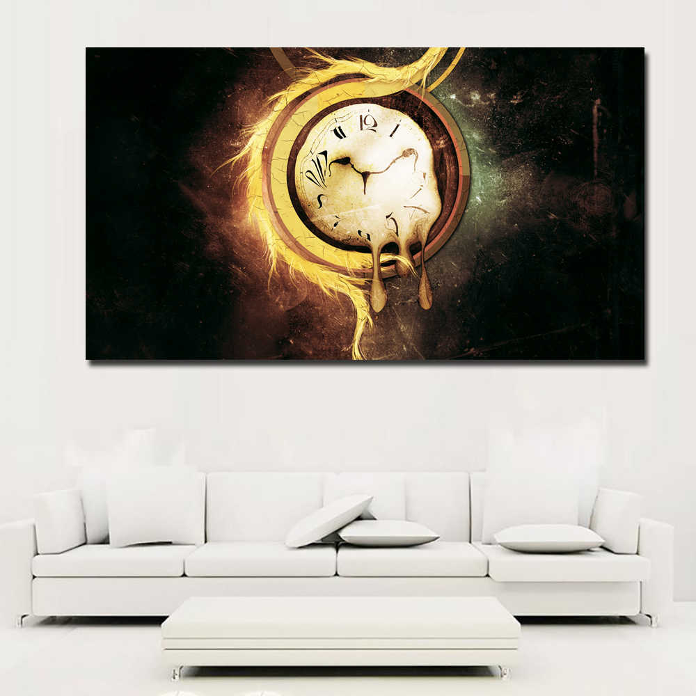Abstract Art Prints On Canvas Hd Prints Abstract Art Canvas Painting Abstract Artistic Clocks Surrealism Painting Wall Art Prints Poster For Living Room Decor