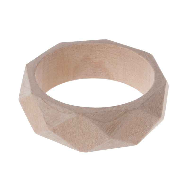 Pulsera de madera natural sin terminar sin pintar DIY joyas artísticas de madera