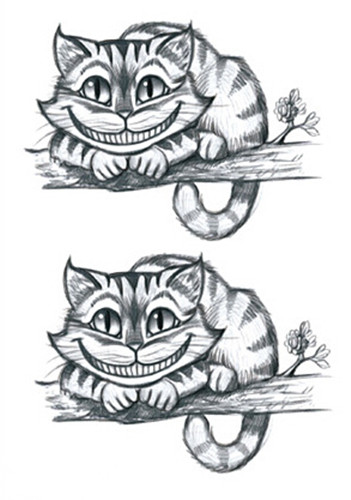 Beautiful Grey Waterproof Flooring Ideas For Living Room: Waterproof Temporary Fake Tattoo Stickers Grey Cat Cartoon