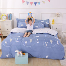 Bedding Set Soft Cotton Bed Linen Couple Kids Child Single Full Queen King Size Duvet Cover Quilt Comforter Pillow Case24(China)