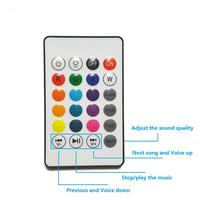 led music Wireless Bluetooth Speaker Bulb E27 Smart RGB RGBW Dimmable LED Music Player Audio Light Lamp with 24 Keys Remote Control smart (2)