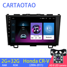 2G+32G 2din Android 8 1 car radio DVD player for Honda CRV CR-V 2006-2011 car stereo GPS navigation WiFi BT 1024*600 multimedia cheap cartaotao Double Din 4*50W 128G JPEG Aluminum alloy + ABS + capacitive touch screen 1 6kg Bluetooth Built-in GPS Charger