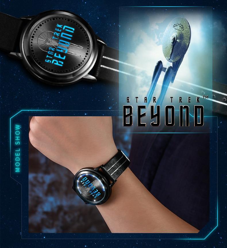 STAR TREK Models Spock Starfleet Spock LED waterproof touch screen watch hot tv series Christmas Gift 8