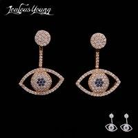 Neue Mode Tiny AAA + CZ Evil Eye Piercing Ohrstecker Für Frauen Ohrringe Schmuck Heißer Geschenk Für Partei Orecchini AE016