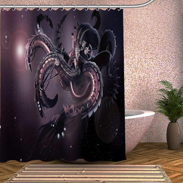 Cthulhu Monster Octopus Customize Shower Curtain Bath Accessories Personalized Waterproof Bathroom Curtains