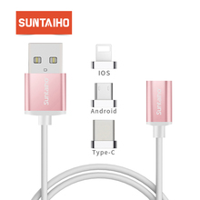 Suntaiho Type c cable 1+6 Magnetic cable for samsung s9 Type C Conver to Android Type c iOS for iphone charger for redmi note 5