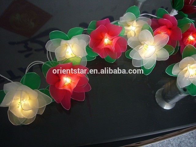 Led Battery Silk Stocking Flower Light Fancy Lovely Beautiful Wedding Decoration String Holiday