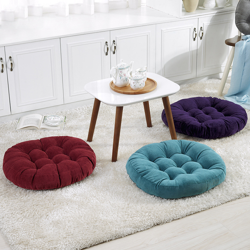 European Corduroy Decorative Square Round Seat Cushion Thicken Hock Chair Tatami Bay Window Stool