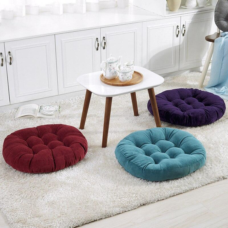 Round Futon Chair Cushion European Corduroy Decorative Square Seat Cus